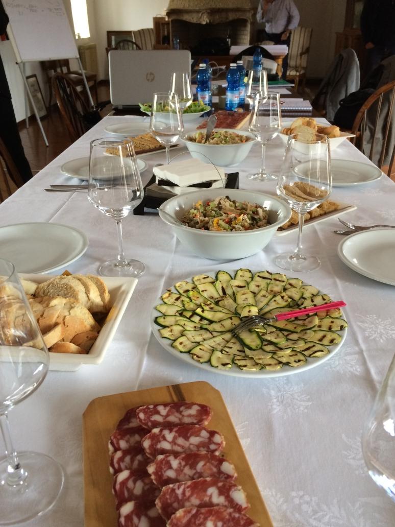 Una reunión de trabajo en Italia